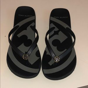 Tory Burch black flip flops